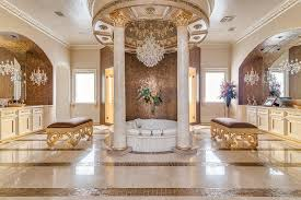 Chandelier Above Bathtub Bathrooms With Glittering Chandeliers