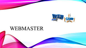webmaster what is a webmaster a person who manages the