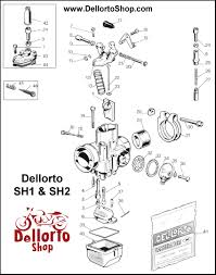 dellorto sh1 and sh2 carburetor parts