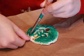 somewhere in the middle salt dough ornaments
