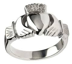 mens claddagh ring heavy claddagh ring for men