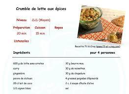 une recette de cuisine crumble de lotte aux épices recettes cuisine