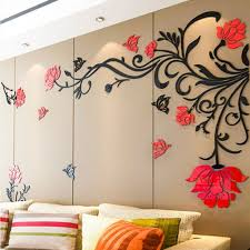 home decor 3d stickers sticker on wall decor 3d flower rattan wall stickers home decor
