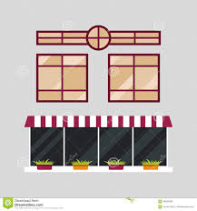different types house windows elements isolated set flat style