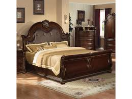 Acme Furniture Acme Furniture Anondale Traditional King Sleigh Bed W Bonded