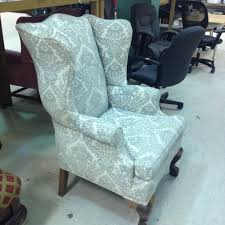 Slipcovers For Rocking Chairs Furniture Interesting White And Blue Wingback Chair Slipcover