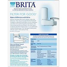 Brita Faucet Filter Coupon Amazon Com Brita On Tap Faucet Water Filter System Replacement