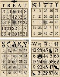 Free Printable Halloween Bingo Cards With Pictures Artistic Hen