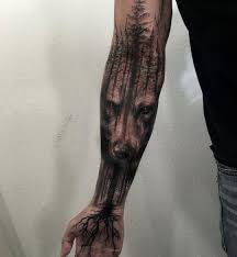 cool wolf design on inner arm tattoos for tattoos