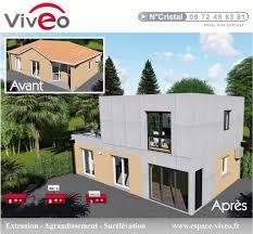 extension maison contemporaine projet surélévation toiture agrandir maison individuelle