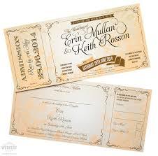 wedding invitations belfast vintage ticket style wedding invites wedfest