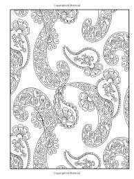 paisley design coloring pages animals creative haven crazy