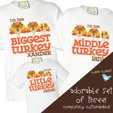 customized shirts thanksgiving turkey matching