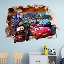 disney wall stickers decal decorations ebay disney cars wall sticker 3d boys girls bedroom vinyl wall art decal