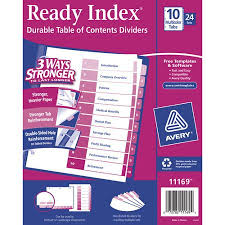 buy avery ready index table of contents dividers executive kit