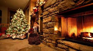 christmas tree and fireplace background cheminee website