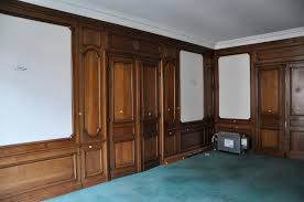 antique oak wood paneled room from the 19th century paneled rooms
