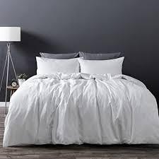 Wash Duvet Cover Amazon Com Dreamaker Luxury Soft 100 Washed Cotton Linen Quilt