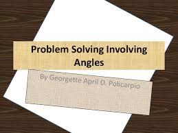 problem solving involving angles