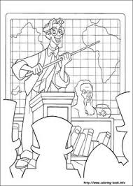 atlantis coloring picture disney coloring pages