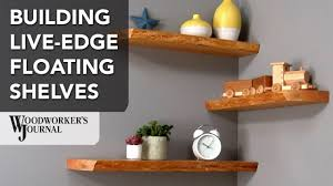 Hanging Wall Shelves Woodworking Plan by Making Live Edge Floating Shelves Woodworking Project Youtube
