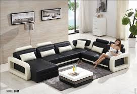 Leather And Tapestry Sofa Cool Living Room Sofa Furniture 17 2015 Modern U Shape Leather