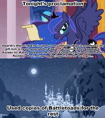 Battletoads Meme - 791310 battletoads luna s proclamation meme princess luna pure