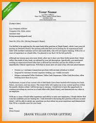 teller cover letter cover letter bank teller cover letter job and