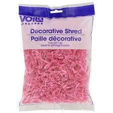 bulk voila fuchsia decorative shredded paper 2 oz bags at