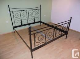 king size sturdy metal bed frame ikea noresund for sale in