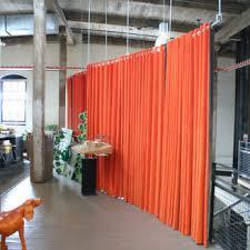 Pvc Room Divider by Hanging Room Dividers Room Dividers Orange Floor To Ceiling