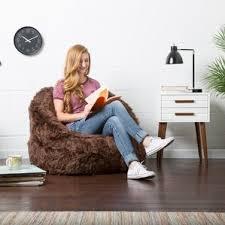brown bean bag chairs you u0027ll love wayfair