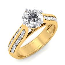 engagement rings india 1 47 carat 18k yellow gold forever promise engagement ring