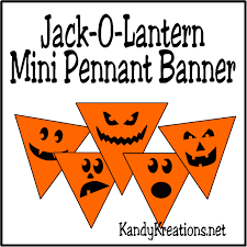 super easy jack o lantern mini pennant banner printable everyday