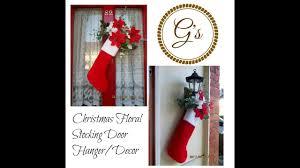 1 poundland craft festive floral christmas stocking door hanger