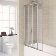 bath screens over bath shower screens from bathshop321 aqualux silver folding bath screen