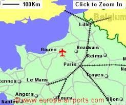 map of rouen rouen valledeseine airport uro guide flights