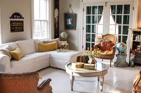 a french style living room and being present at every stage
