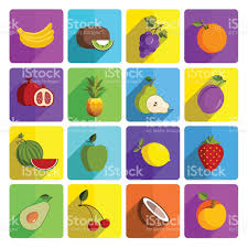 modern fruit vector icon set stock vector art 484896692 istock