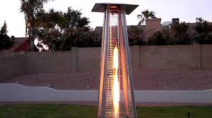 Living Flame Patio Heater by Az Patio Heaters Glass Tube Heater Youtube