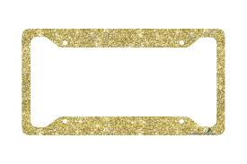 gold glitter car gold license plate frame glitter car tag frame gold glitter