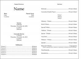 template for memorial service program funeral template edel alon