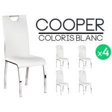 lot 4 chaises blanches altobuy cooper lot 4 chaises blanches pas cher achat vente