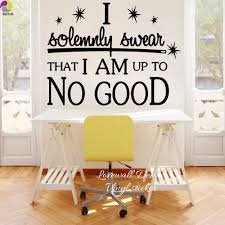 compare prices on wall cabinet office online shopping buy low i am up to no good quote wall sticker office bedroom harry potter inspiration motivation quote