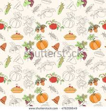 thanksgiving seamless pattern can be used stock vector 478206619