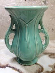 Mccoy Vase Value Vintage 1940 U0027s Mccoy Pottery Usa Large Mint Green Double Handle