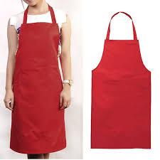 Womens Aprons New Plain Bib Apron For Chefs Butchers Restaurant Kitchen Cooking