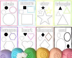 playdough shape mats early learning activity