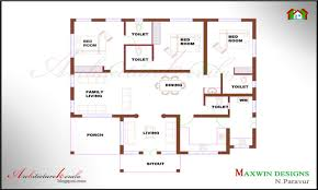 trendy 3 bedroom house plans single floor 3d has 3 1280x768