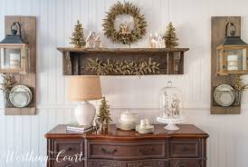 my rustic glam farmhouse christmas dining room worthing court